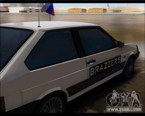 VAZ 2108 Military Classics for GTA San Andreas back left view