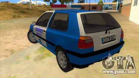 Volkswagen Golf 3 Police for GTA San Andreas back left view