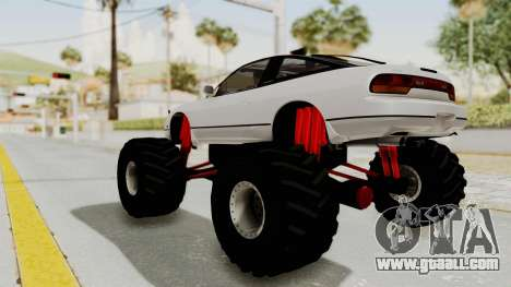 Nissan 240SX Monster Truck for GTA San Andreas back left view