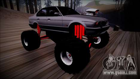 BMW M5 E34 Monster Truck for GTA San Andreas inner view