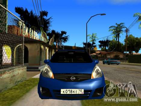 Nissan Note KURMIN StreetRacer for GTA San Andreas right view