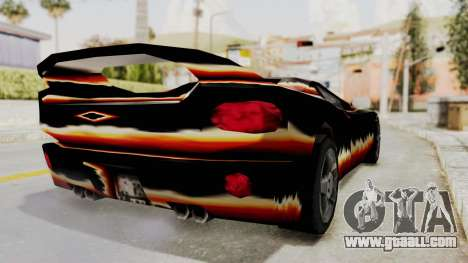 GTA 3 Diablos Infernus for GTA San Andreas back left view