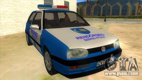 Volkswagen Golf 3 Police for GTA San Andreas back view