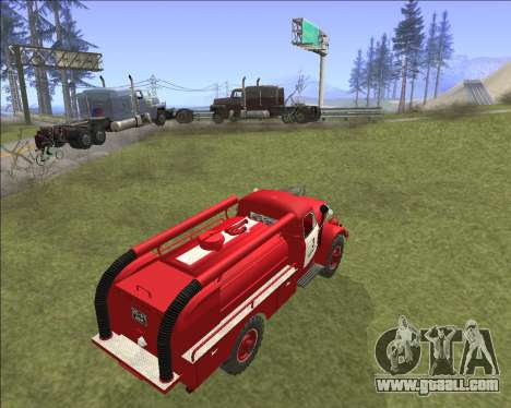 GAZ 63 Fire engine for GTA San Andreas back view