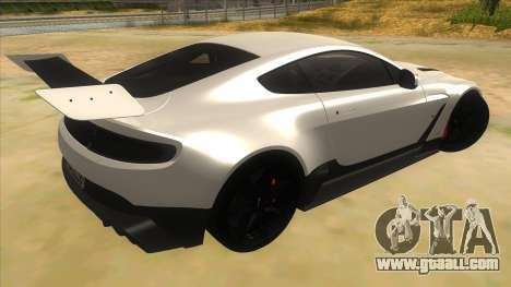 2015 Aston Martin Vantage GT12 for GTA San Andreas right view