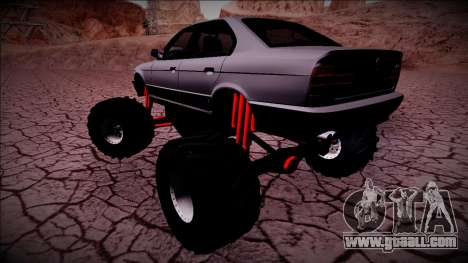 BMW M5 E34 Monster Truck for GTA San Andreas back left view
