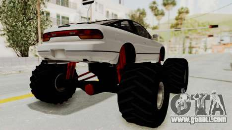 Nissan 240SX Monster Truck for GTA San Andreas left view