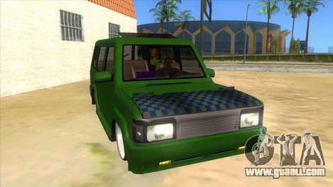Toyota Kijang Grand Extra IKC for GTA San Andreas back view