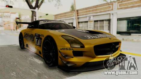 Mercedes-Benz SLS AMG GT3 PJ3 for GTA San Andreas side view