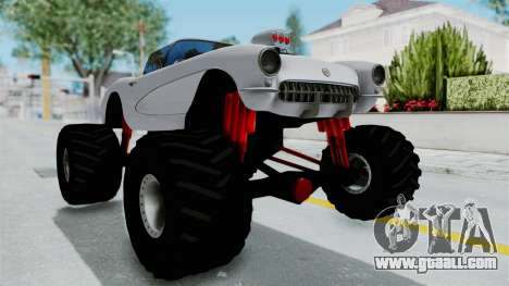 Chevrolet Corvette C1 1962 Monster Truck for GTA San Andreas right view