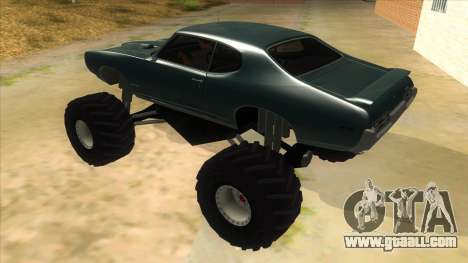 1969 Pontiac GTO Monster Truck for GTA San Andreas back left view