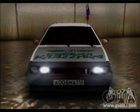 VAZ 2108 Military Classics for GTA San Andreas right view