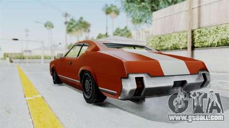 GTA Vice City - Sabre Turbo (Unsprayable) for GTA San Andreas left view