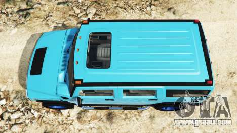 GTA 5 Hummer H2 2005 [tinting] v2.0 back view