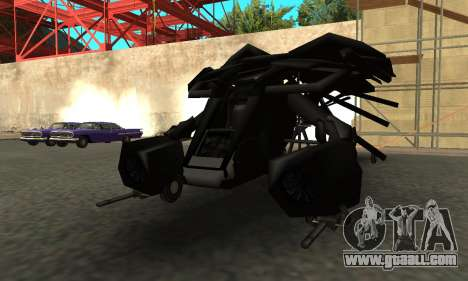 The Dark Knight Rises BAT v1 for GTA San Andreas back left view