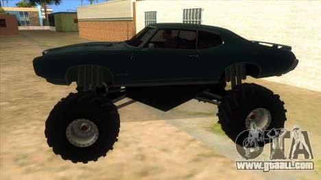 1969 Pontiac GTO Monster Truck for GTA San Andreas left view