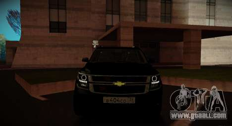 2015 Chevrolet Suburban Prosecutor's Office for GTA San Andreas inner view