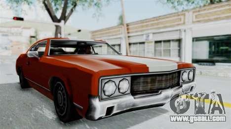 GTA Vice City - Sabre Turbo (Unsprayable) for GTA San Andreas
