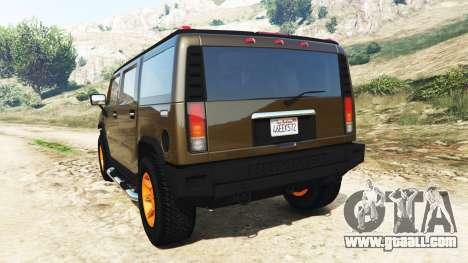 GTA 5 Hummer H2 2005 [tinted] v2.0 rear left side view