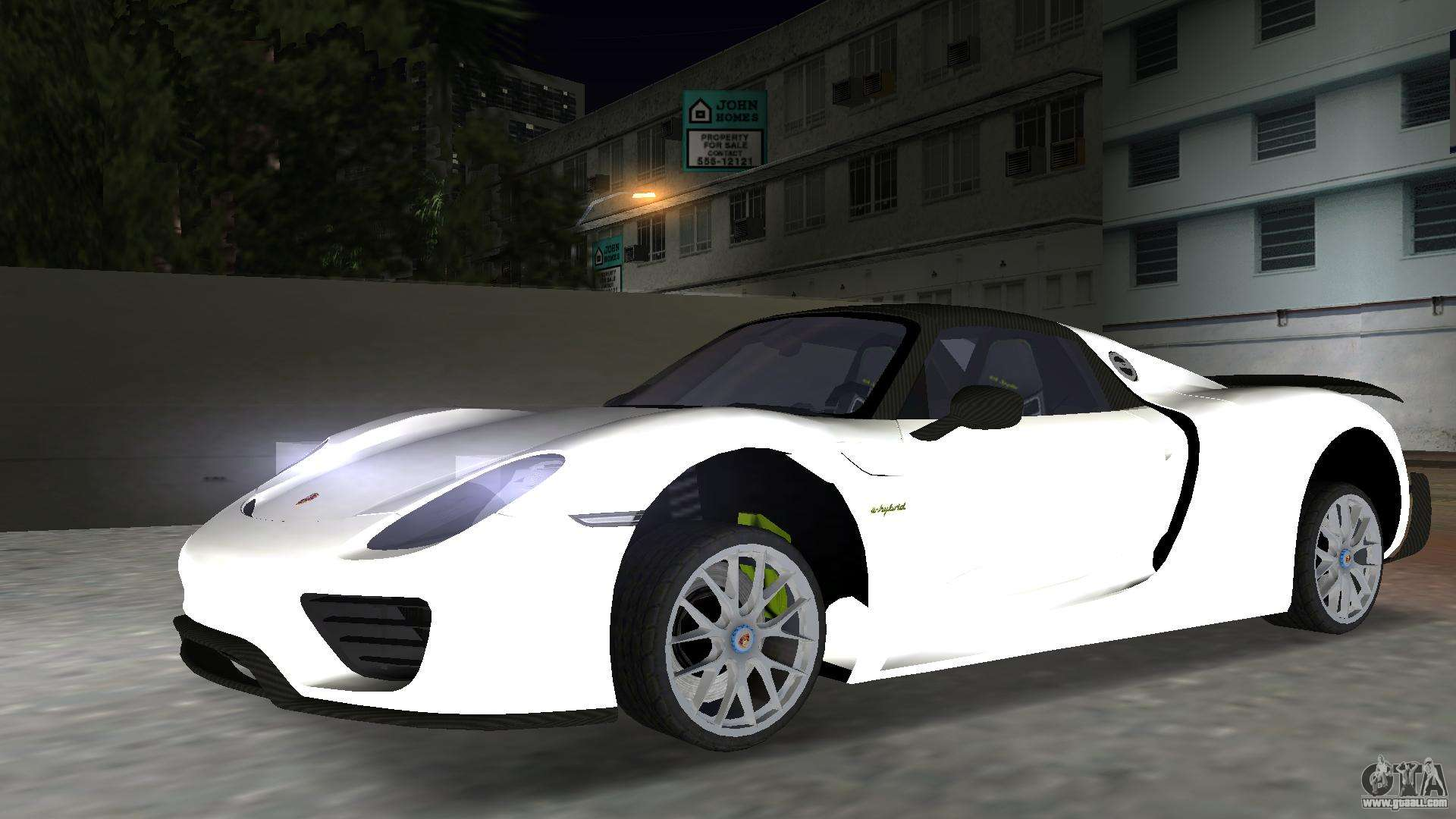 2016 porsche 918 spyder weissach package for gta vice city. Black Bedroom Furniture Sets. Home Design Ideas