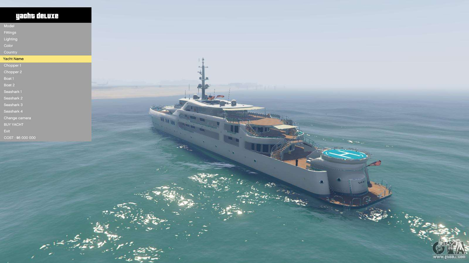 Yacht Deluxe 1 9 For Gta 5
