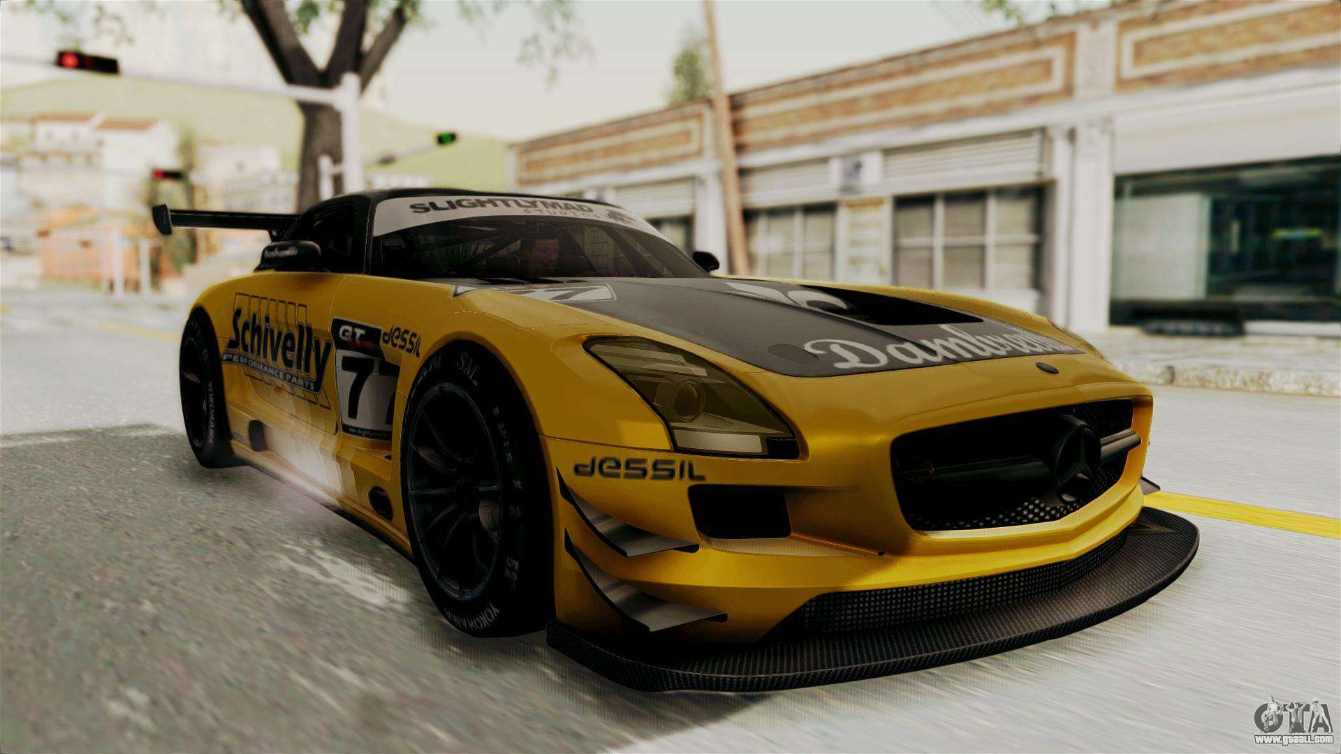 mercedes benz sls amg gt3 pj3 for gta san andreas. Black Bedroom Furniture Sets. Home Design Ideas