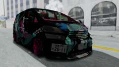 Toyota Vellfire Miku Pocky Exhaust Final Version for GTA San Andreas