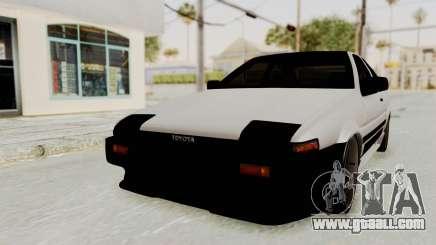 Toyota AE86 Sprinter Trueno for GTA San Andreas