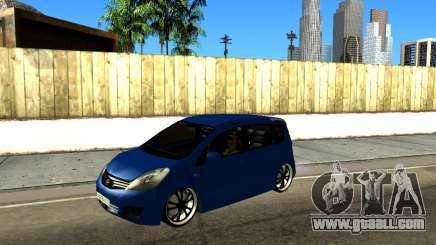 Nissan Note KURMIN StreetRacer for GTA San Andreas
