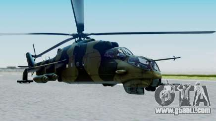 Mi-24V Sri-Lanka Air Force CH621 for GTA San Andreas