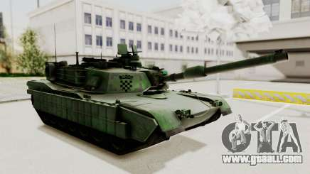 M1A2 Abrams Woodland Croatian for GTA San Andreas