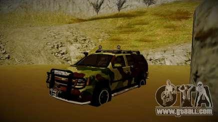 Chevrolet Tahoe LTZ v2 Camofluge for GTA San Andreas