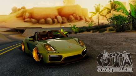 Porsche Boxster GTS LB Work for GTA San Andreas