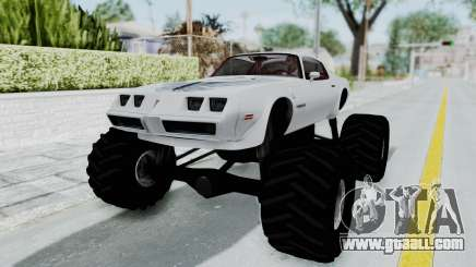 Pontiac Firebird Trans Am Monster Truck 1980 for GTA San Andreas