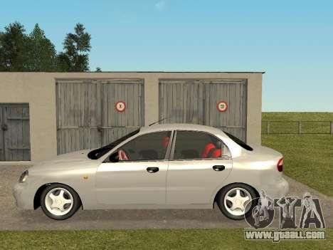 Daewoo Lanos (Sens) 2004 v2.0 by Greedy for GTA San Andreas back left view