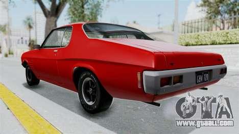 Holden Monaro GTS 1971 AU Plate HQLM for GTA San Andreas back left view