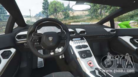 GTA 5 Lamborghini Huracan LP 610-4 2016 rear right side view