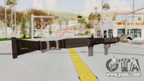 GTA 5 Rocket Launcher Shark mouth for GTA San Andreas third screenshot