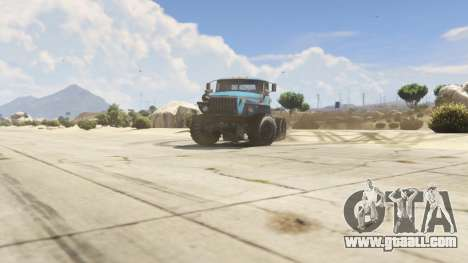 GTA 5 Ural-4320 1.2 right side view