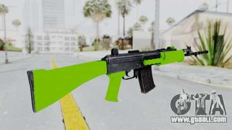 IOFB INSAS Light Green for GTA San Andreas second screenshot