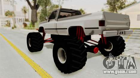 Chevrolet Silverado Classic 1985 Monster Truck for GTA San Andreas left view