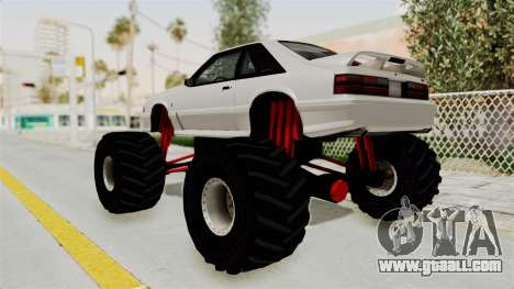Ford Mustang 1991 Monster Truck for GTA San Andreas left view