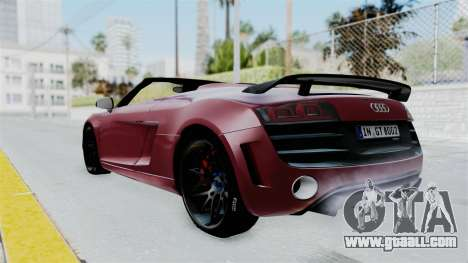 Audi R8 Spyder 2014 LB Work for GTA San Andreas left view