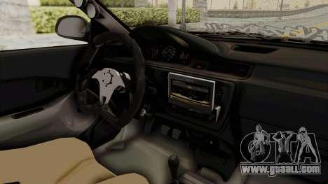 Honda Civic Hatchback 1994 Tuning for GTA San Andreas inner view