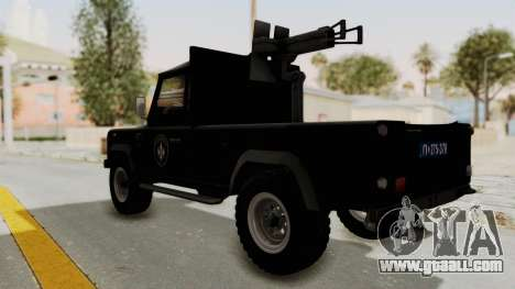Land Rover Defender SAJ for GTA San Andreas left view