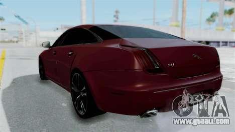 Jaguar XJ 2010 for GTA San Andreas left view