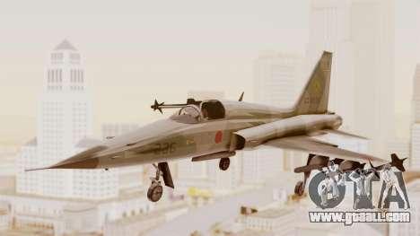Northrop F-5E Tiger II JASDF for GTA San Andreas back left view