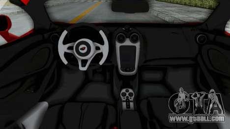 McLaren 570S 2016 for GTA San Andreas inner view