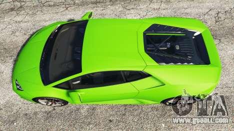 GTA 5 Lamborghini Huracan LP 610-4 2016 back view