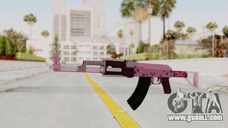 Assault Rifle Pink for GTA San Andreas second screenshot